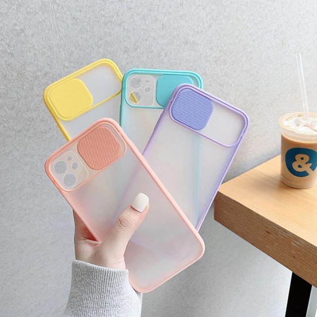 Simple slide Camera iphone case