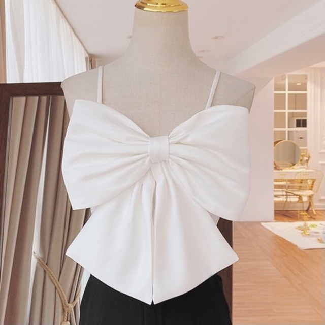 ribbon camisole(White)