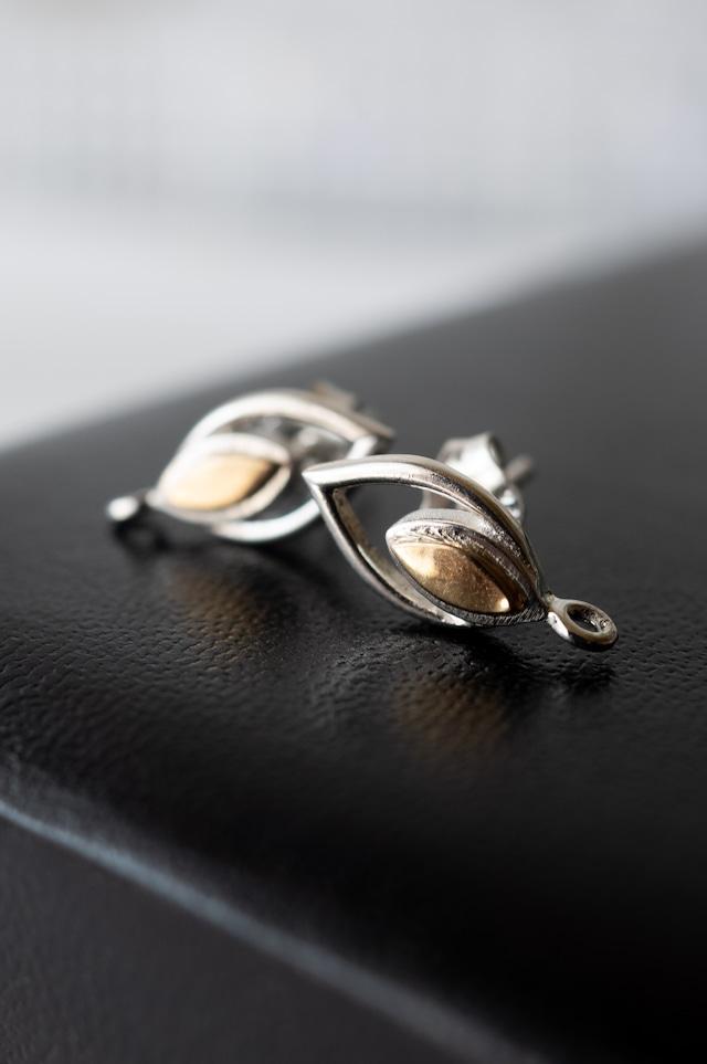 Staring Silver Earrings -006