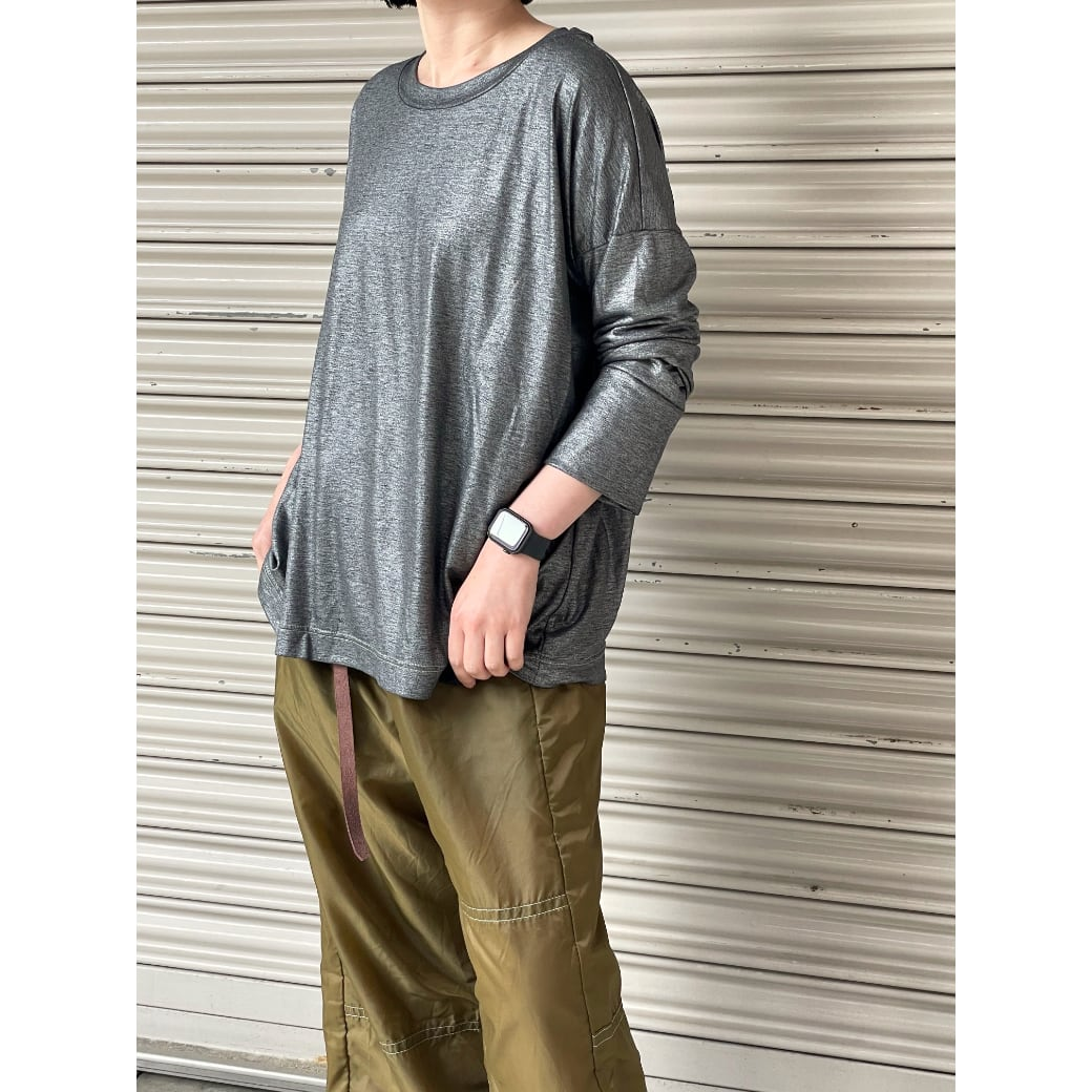 【sandglass】 reversy long sleeve(glitter black) / 【サンドグラス】リバーシー ロング スリーブ(グリッター ブラック)