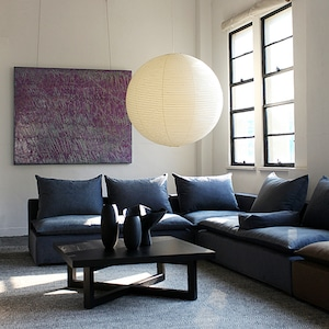 バーデン リビングテーブル オーク ブラック塗装 900*900*350