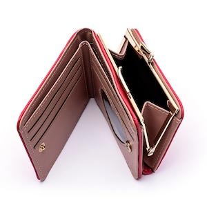 ♡二つ折りハート柄ミニ財布