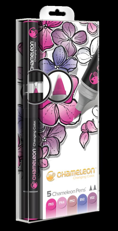 Chameleon Pen 5 Pen Floral Set (カメレオンペン 5本入りフローラルセット)