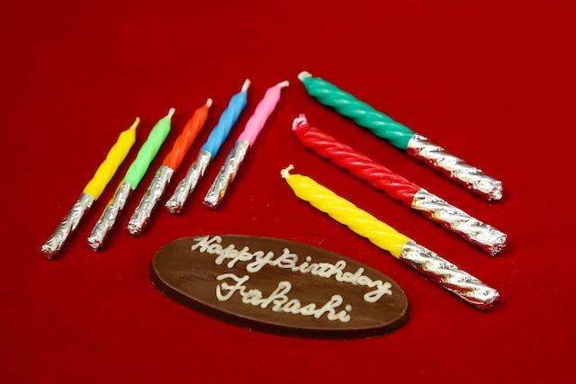 お誕生日用チョコプレート & ローソク