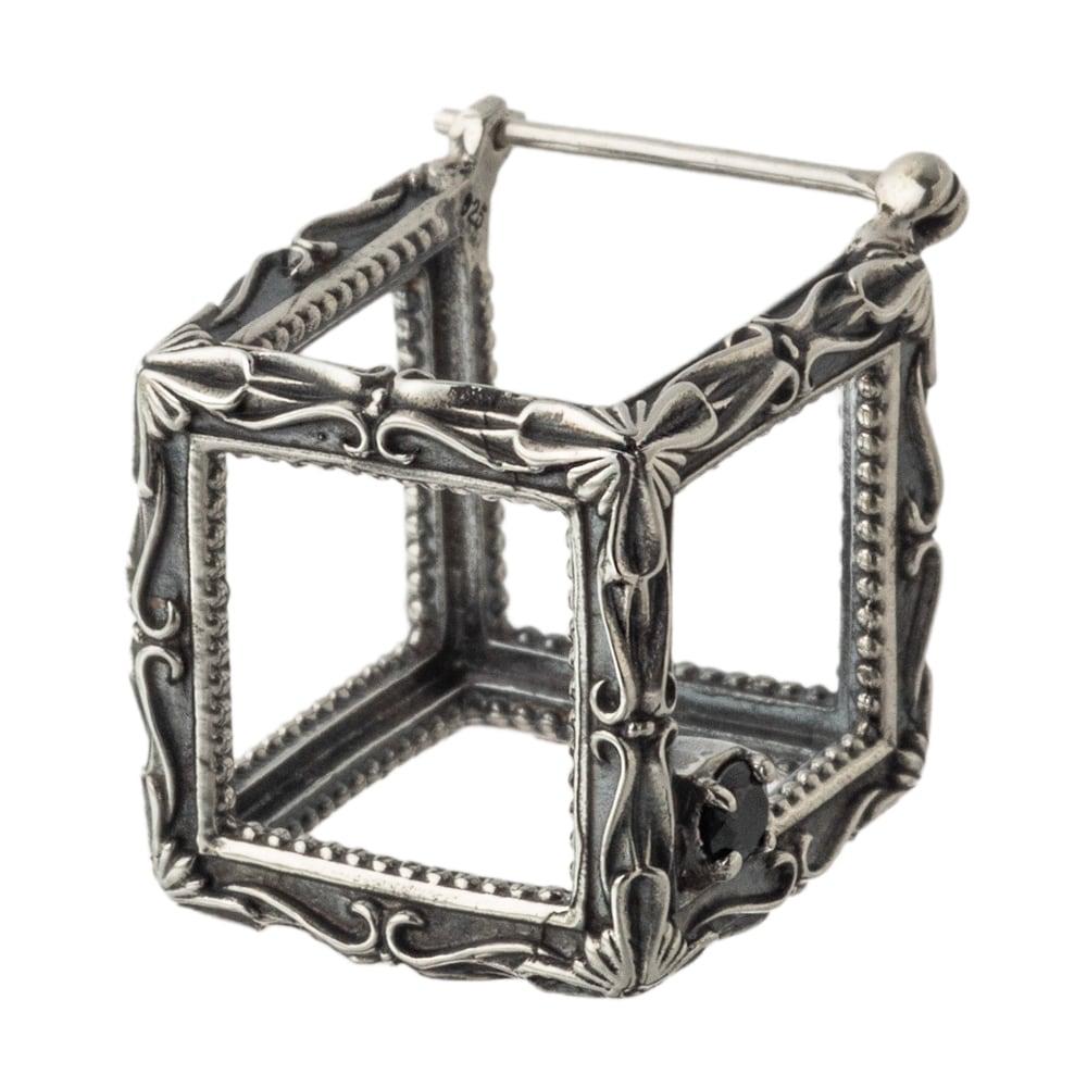 フレームキューブピアス ACE0168 Frame cube earrings
