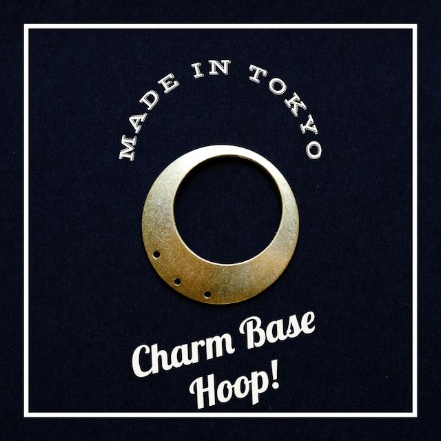 【1個】チャーム・ベース:フープ(穴3)(日本製、真鍮、無垢)