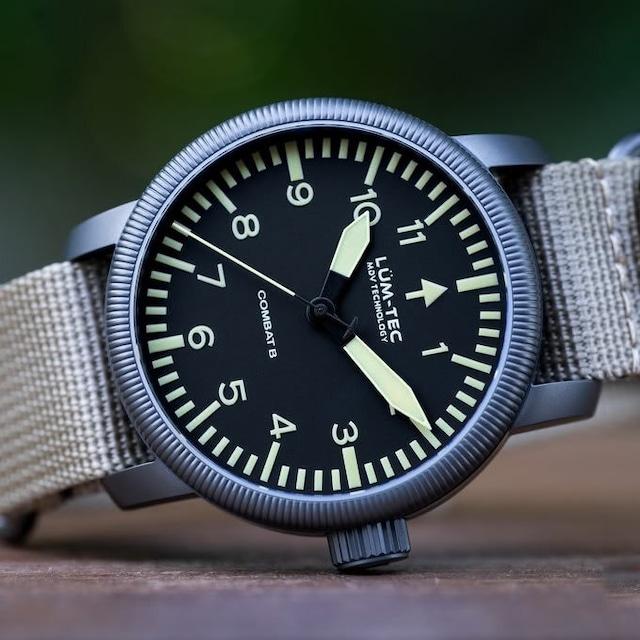 【世界限定500本】COMBAT B46  Swiss Ronda 515 スイス製ムーブメント ミリタリーウォッチ ZULU/NATOストラップ メンズ 腕時計【LUM-TEC/ルミテック】