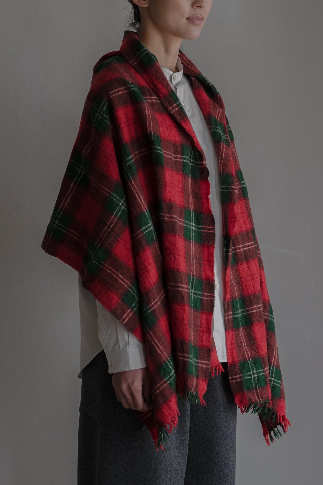 01642-1 tartancheck muffler / red,green