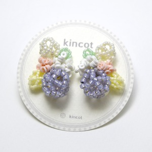 kincot メッシュデザインイヤリング(パープル)