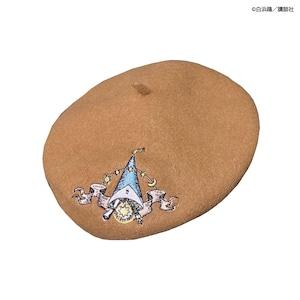 〈とんがり帽子のアトリエ〉刺繍ベレー帽〈ベージュ〉