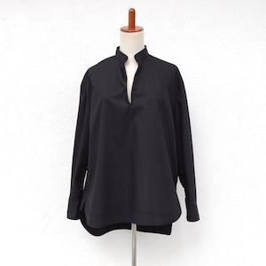 SINME Vネックオープンシャツ ブラック