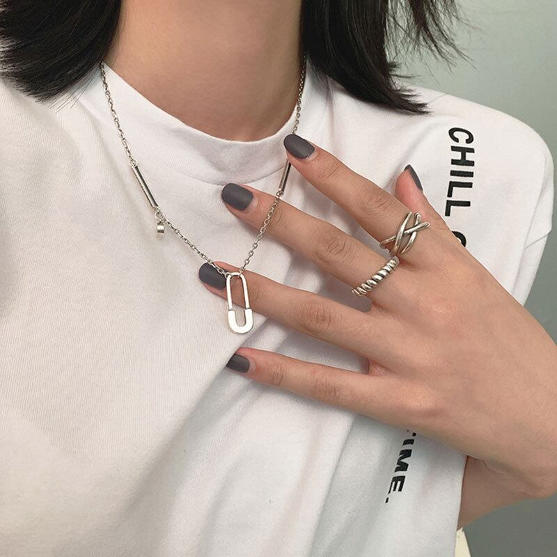 clip pendant chain necklace