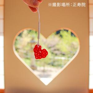 【京都・正寿院公認】紙単衣オリジナル『水引ハートお守り』手作りキット・赤