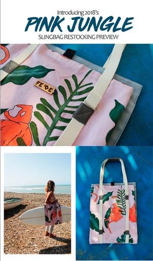 FEDE Pink Jungle Sling Bag