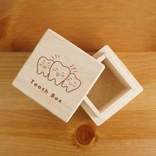 桐箱製 乳歯ケース  IT-NYUSC 【07556】