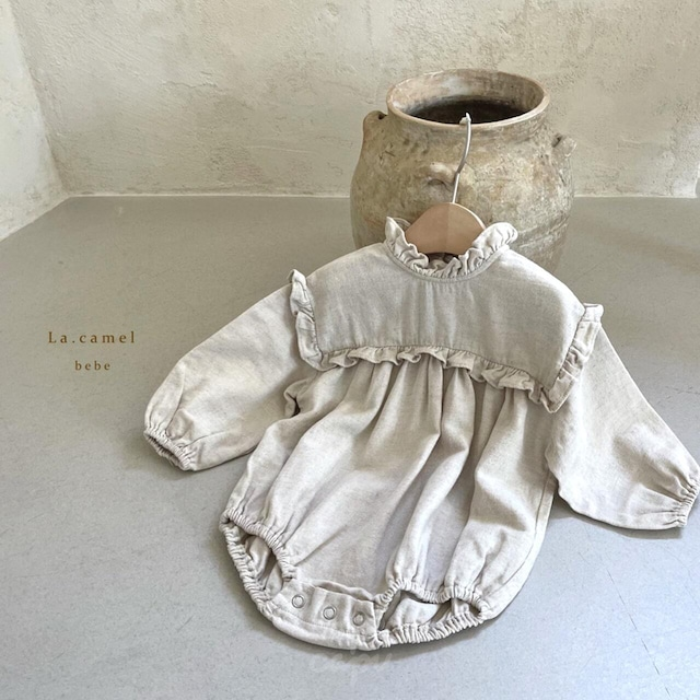 «sold out»«baby» La camel frill suit フリルロンパース
