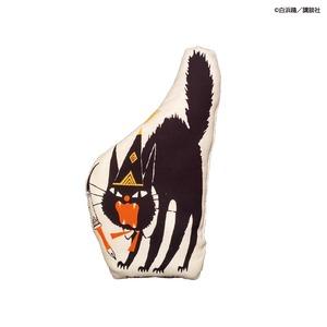 〈とんがり帽子のアトリエ×黒ねこ意匠〉クッションオブジェ(オルーギオ帽子)