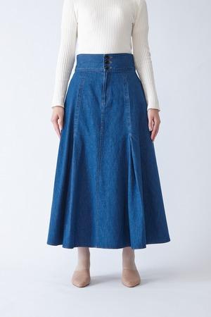 ADNIS(BLUE)フレアスカート
