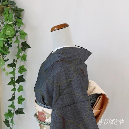 大島紬 錫紵(しゃくじょ)に氷割 袷