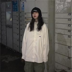 【トップス】無地シンプルストリート系カジュアルシャツ42914425