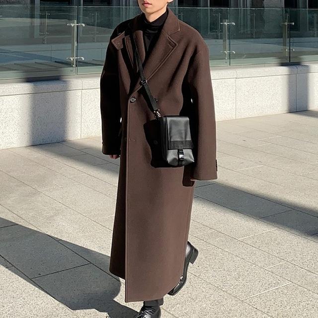 Stand collar wool coat   b-525