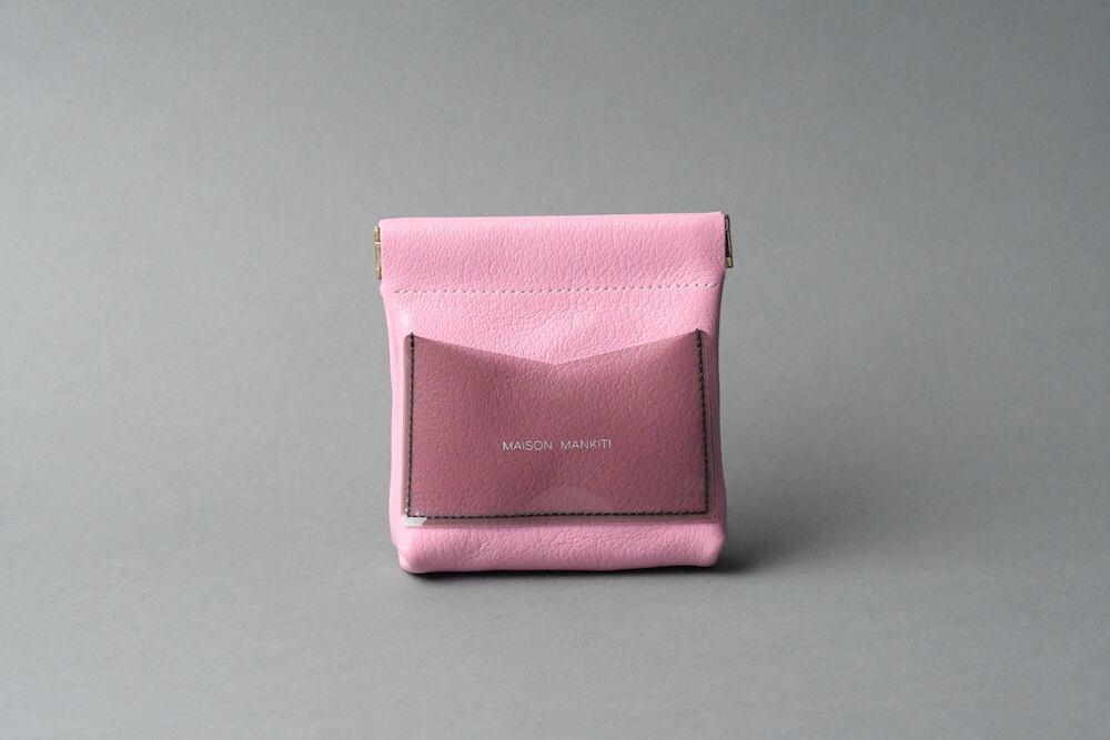 ワンタッチ・コインケース ■ピンク・クリアブラック■ - 画像1
