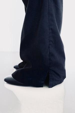 Vintage side slit easy pants