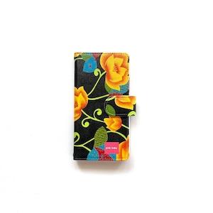 北欧デザイン iPhone手帳型ケース    matthew black & yellow