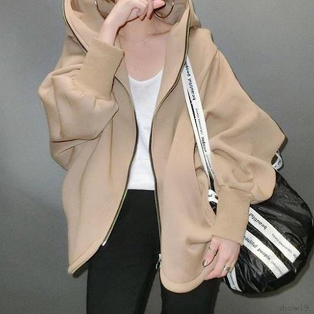 【アウター】上品な可愛さジッパー切り替えフード付きスウィートジャケット-2-53905435