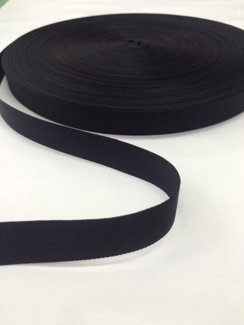 ナイロン 平織(グログラン)18mm幅 黒 1巻(50m)