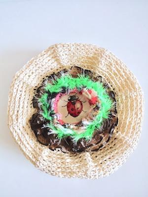 和紙とゴブラン織りのベレー帽<M〜Lサイズ>