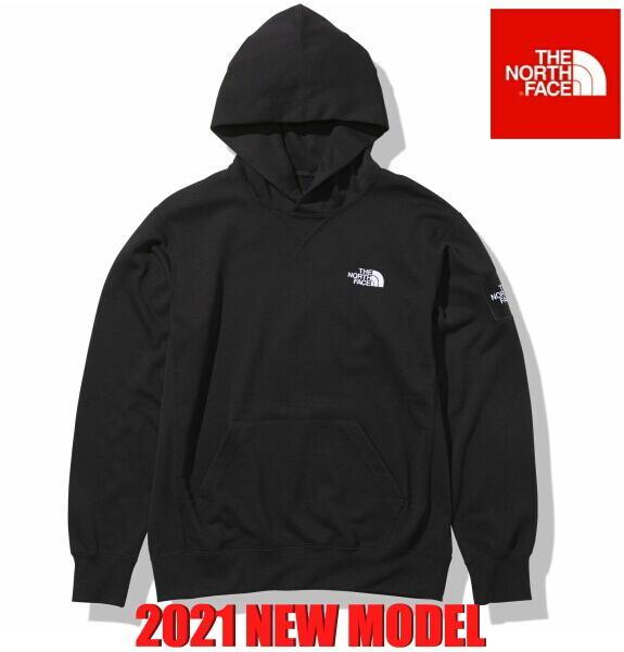 ノースフェイス パーカー フーディー スウェット プルオーバー パーカー スクエアロゴフーディー The North Face Square Logo Hoodie NT12141 ブラック 2021年モデル