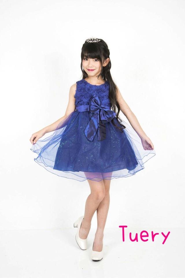 商品番号543 dress♡ラメ入りリボン付きお姫様パーティドレス