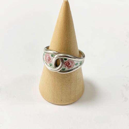Vintage Sterling Floral Enamel Ring By BAR-TAN MFG. CO.