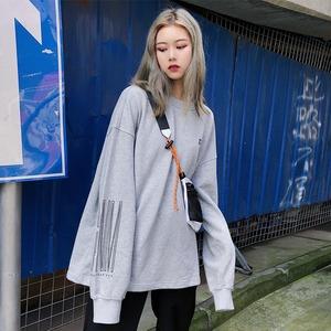 【トップス】刺繍bf韓国系ファッション無地シンプルパーカー42908708