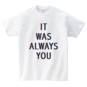 It's Always You Tシャツ メンズ レディース 半袖 シンプル ゆったり おしゃれ トップス 白 30代 40代 ペアルック プレゼント 大きいサイズ 綿100% 160 S M L XL