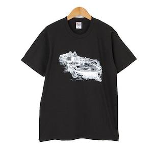 軍艦島ドローイングTシャツ(黒)