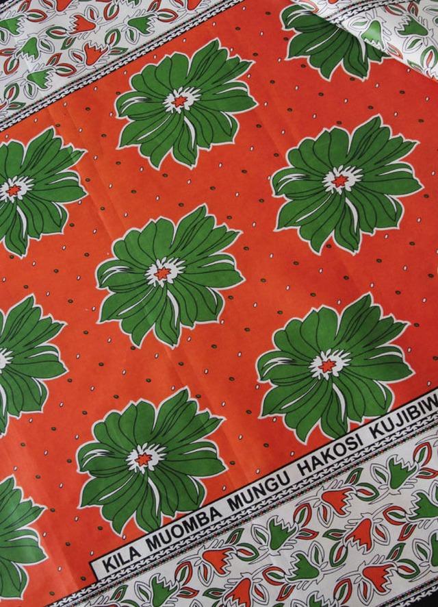 カンガ ルージュオレンジ × グリーン