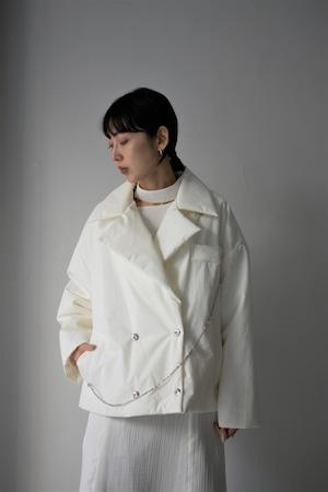 ROOM211 / Padding short jacket Coat (white)