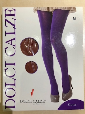 DolciCalze (ドルチカルゼ)イタリア製 05-2639 コットンナイロン無地 タイツ
