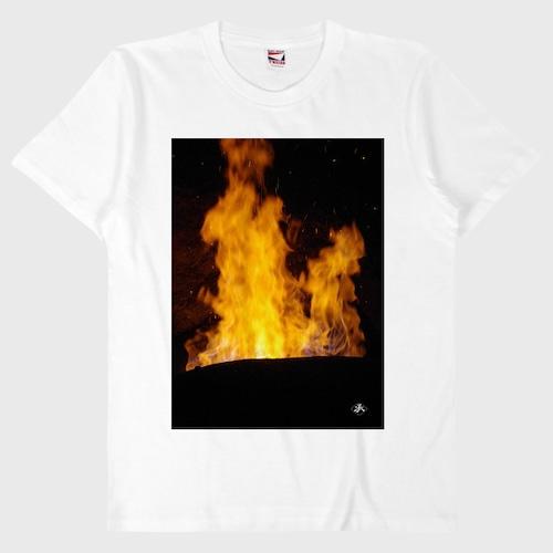 炎Tシャツ (白・黒)【刃物関連団体応援商品】