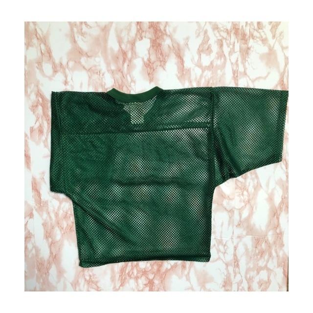 vintage green mesh tee