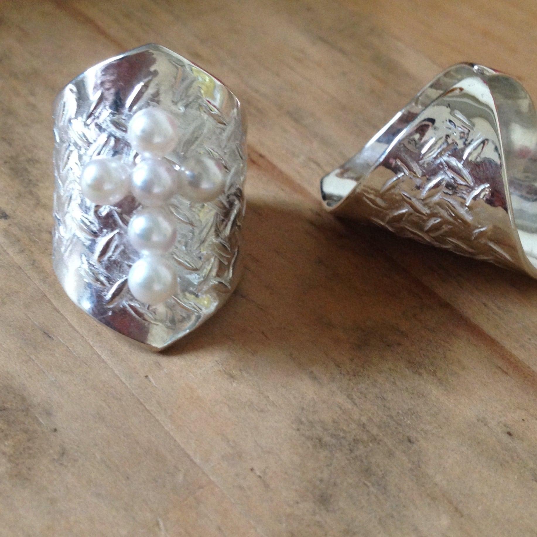 SV*baby-pearl/CROSS+ring