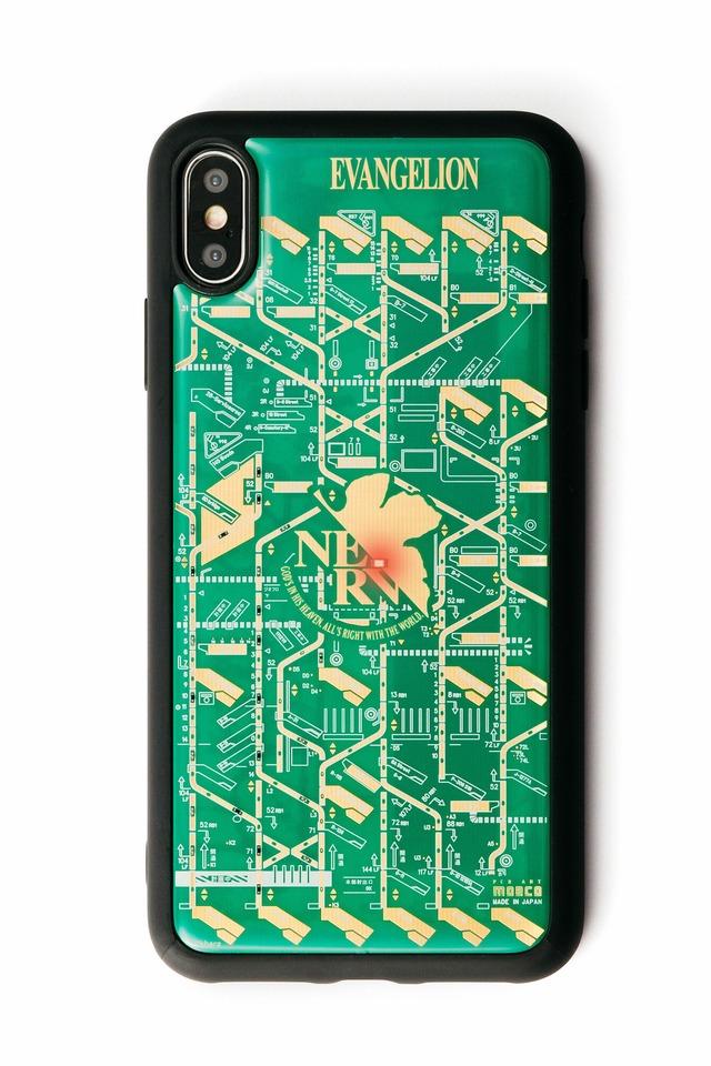 FLASH NERV iPhone XS Maxケース 緑【東京回路線図A5クリアファイルをプレゼント】