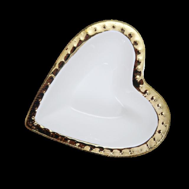 Gold line heart bowl / ゴールドラインハートボウル