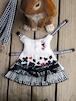うさぎハーネス リフルシャッフル刺繍トランプリード付 女の子向けSサイズ白