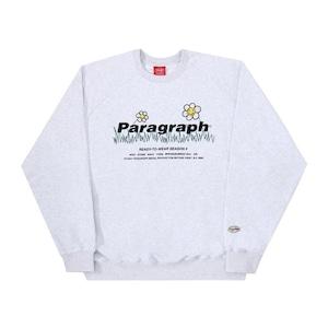 PARAGRAPH フラワーエンブロイダリースウェット Paragraph 21F/W FLOWER EMBROIDERY MTM NO.35