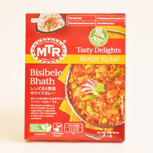 MTRレトルトカレー レンズ豆と野菜のライスカレー Bisibele Bhath