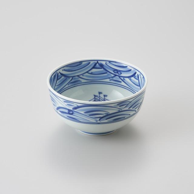 """【青花】""""長崎紋"""" 玉渕4.5寸丼"""