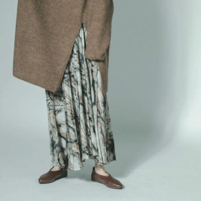 【 CHIGNON 】 - 2112-274PT - 柄ランダムプリーツスカート